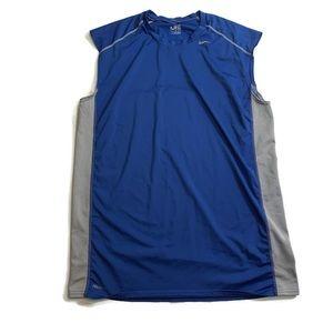 Nike FIT DRY Sleeveless Running Shirt  Blue Medium
